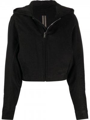 Куртка с объемными рукавами и капюшоном Rick Owens DRKSHDW. Цвет: черный