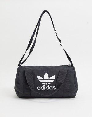 Черная небольшая сумка дафл с логотипом-трилистником -Черный adidas Originals