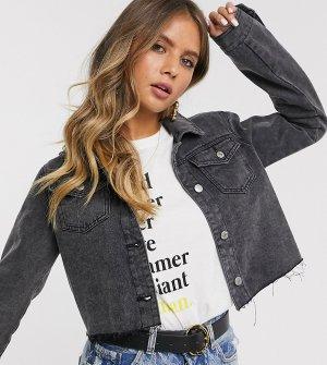 Укороченная джинсовая куртка -Черный Urban Bliss
