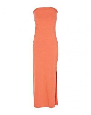 Платье длиной 3/4 ENZA COSTA. Цвет: оранжевый