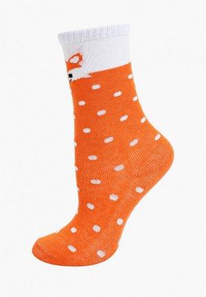 Гольфы Соль&Перец. Цвет: оранжевый