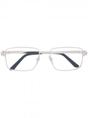 Очки Santos в прямоугольной оправе Cartier Eyewear. Цвет: серебристый