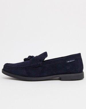 Темно-синие замшевые лоферы -Темно-синий Ben Sherman