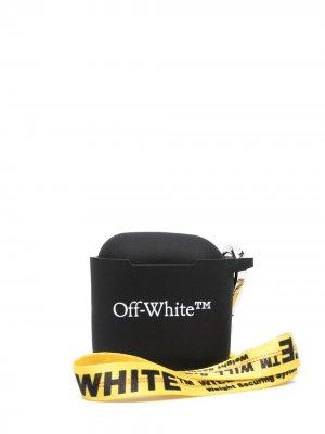 Чехол для AirPods с логотипом Off-White. Цвет: черный