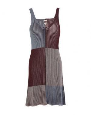 Короткое платье I'M ISOLA MARRAS. Цвет: красно-коричневый