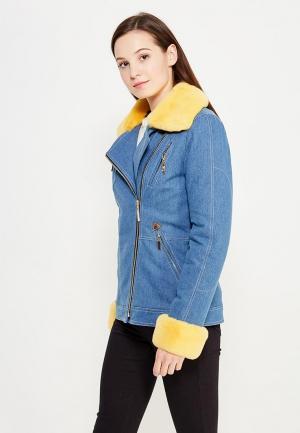 Куртка утепленная V&Florence. Цвет: голубой