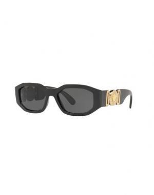 Солнечные очки VERSACE. Цвет: черный