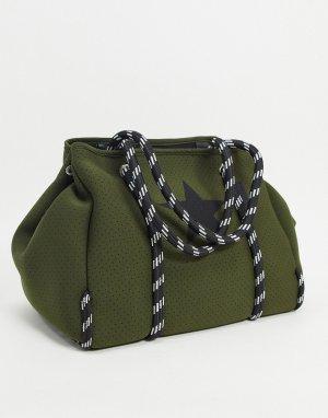 Сумка-шоппер оливкового цвета -Зеленый Steve Madden