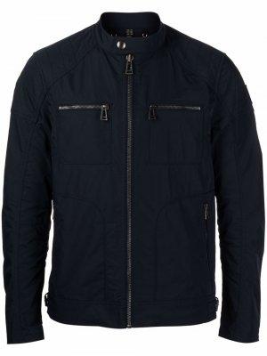 Байкерская куртка на молнии Belstaff. Цвет: синий