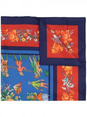 Платок Les Jardiniers du Roy 1990-х годов Hermès. Цвет: разноцветный
