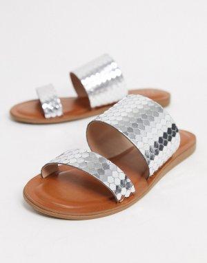 Серебристые сандалии-слипоны Aldo-Серебряный ALDO