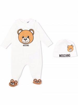Пижама Teddy Bear Moschino Kids. Цвет: белый