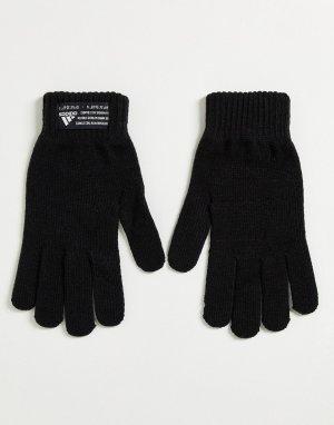Черные перчатки adidas-Черный цвет adidas performance