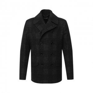 Бушлат из шерсти и хлопка Dolce & Gabbana. Цвет: чёрный
