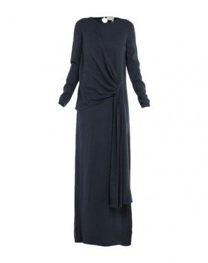 Длинное платье LANVIN. Цвет: темно-синий