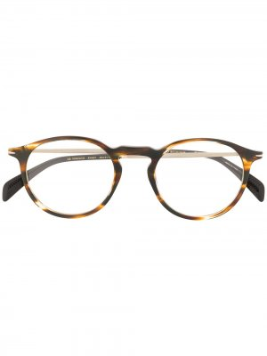 Солнцезащитные очки 1003/G/CS в круглой оправе Eyewear by David Beckham. Цвет: коричневый