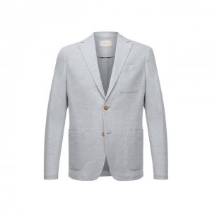 Пиджак из хлопка и льна Altea. Цвет: голубой
