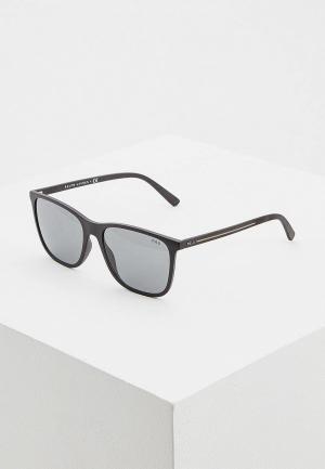 Очки солнцезащитные Polo Ralph Lauren PH4143 528487. Цвет: черный