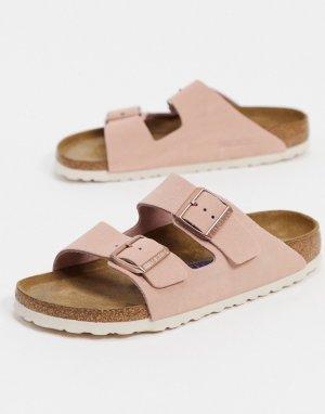 Светло-розовые замшевые сандалии -Розовый Birkenstock