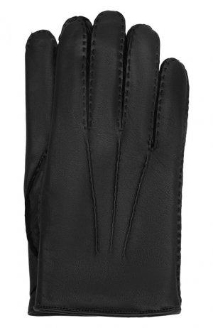 Кожаные перчатки Zegna Couture. Цвет: чёрный