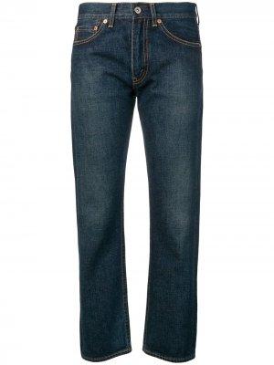 Укороченные джинсы-герлфренд Junya Watanabe. Цвет: синий