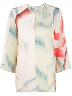 Блузка-туника Foliage с принтом Etro. Цвет: нейтральные цвета