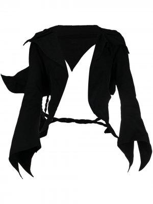 Жакет асимметричного кроя Yohji Yamamoto. Цвет: черный