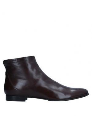 Полусапоги и высокие ботинки LORENZO MASIERO. Цвет: какао