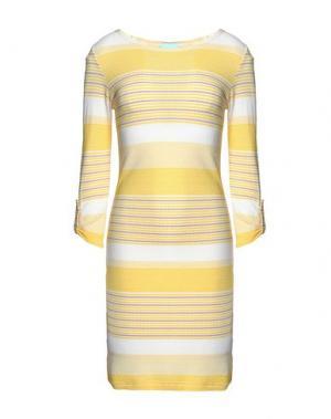 Короткое платье MELISSA ODABASH. Цвет: желтый
