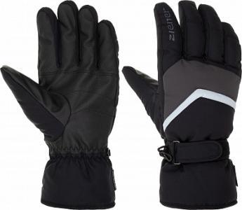 Перчатки мужские Gerado, размер 10,5 Ziener. Цвет: черный