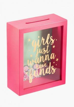 Копилка Русские подарки. Цвет: розовый