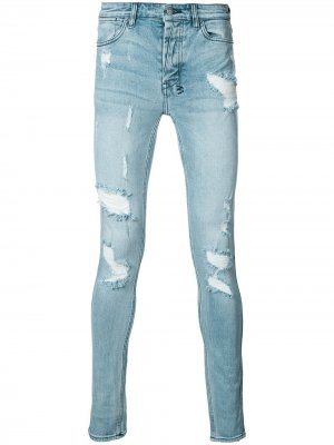 Рваные джинсы скинни Ksubi. Цвет: синий