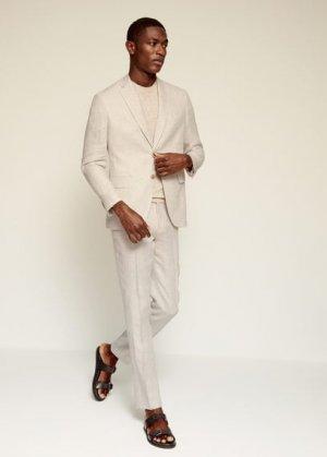 Костюмный пиджак slim fit изо льна - Florida Mango. Цвет: бежевый