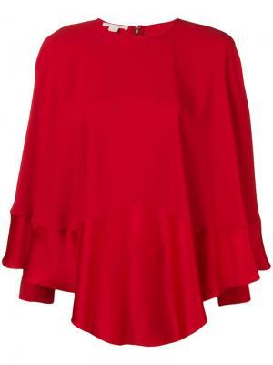 Long sleeve draped blouse Antonio Berardi. Цвет: красный