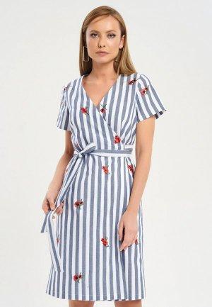 Платье Akimbo. Цвет: голубой
