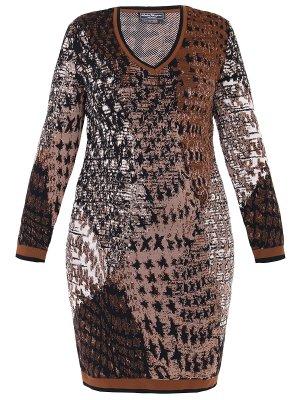 Платье шерстяное с принтом S.FERRAGAMO