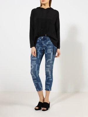 Укороченные джинсы J61 Armani Exchange. Цвет: siniy