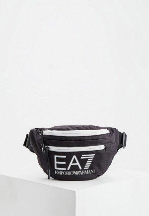 Сумка поясная EA7. Цвет: черный