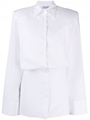 Платье-рубашка мини Margot The Attico. Цвет: белый