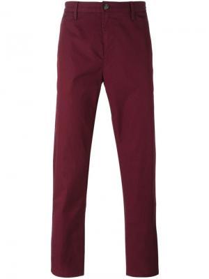 Классические брюки-чинос Burberry Brit. Цвет: красный