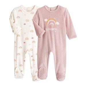 Комплект из 2 пижам LaRedoute. Цвет: розовый