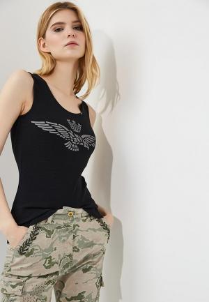 Майка Aeronautica Militare. Цвет: черный