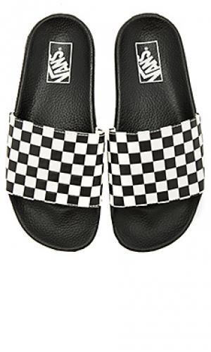 Шлепанцы Vans. Цвет: black & white