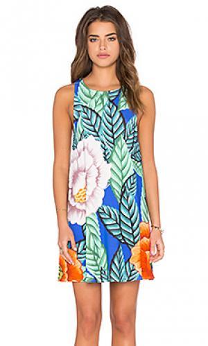 Платье с юбкой-солнце Mara Hoffman. Цвет: синий