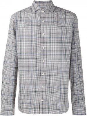 Клетчатая рубашка Hackett. Цвет: серый