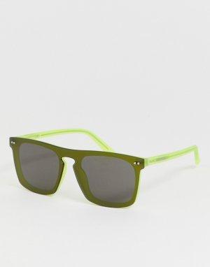 Квадратные солнцезащитные очки CK19501S-Серый Calvin Klein