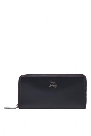 Кожаный кошелек Panettone Christian Louboutin. Цвет: черный