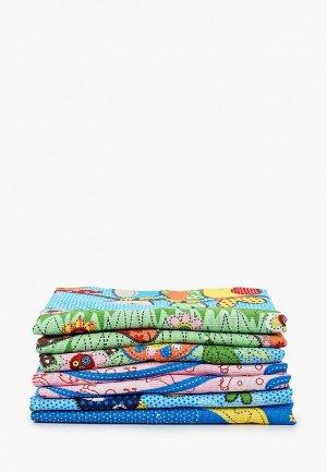 Набор полотенец кухонных Эго. Цвет: разноцветный