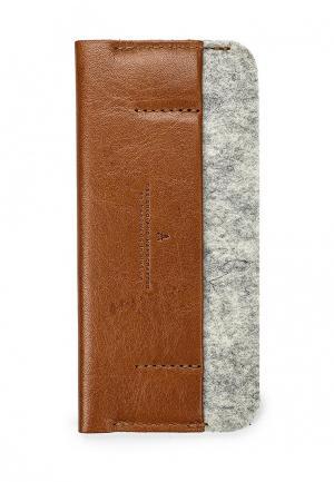 Чехол для телефона Handwers PORTSIDE. Цвет: коричневый