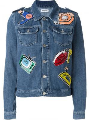 Джинсовая куртка с заплатками Au Jour Le. Цвет: синий